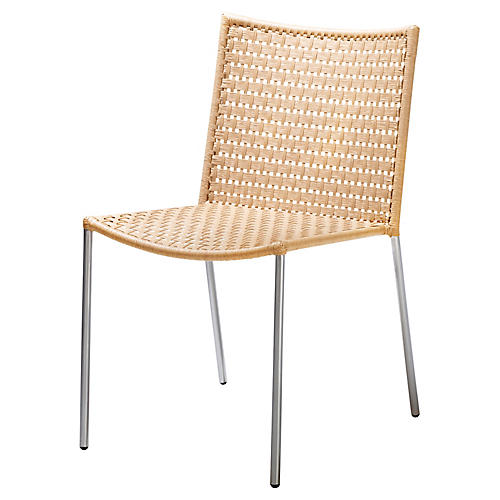 Straw Side Chair, Natural