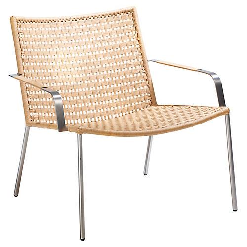 Straw Club Chair, Natural