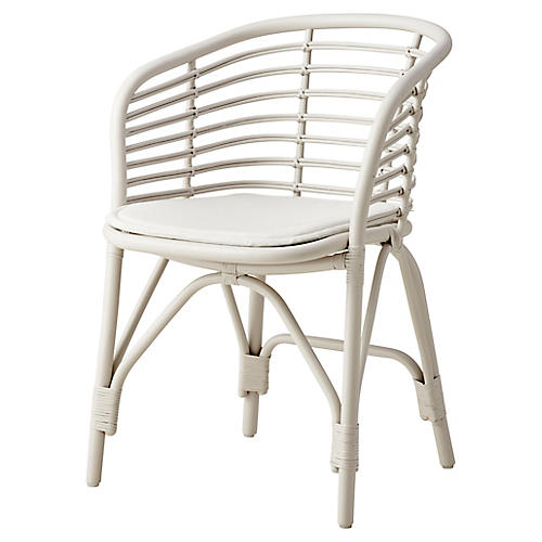 Blend Armchair, White Sunbrella