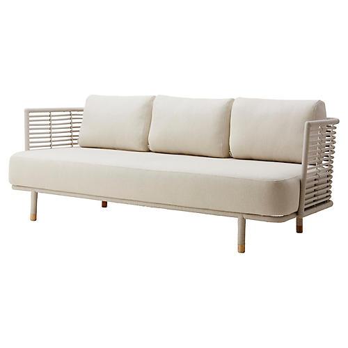 Sense Sofa, White Sunbrella