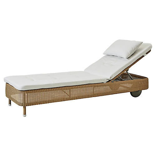 Presley Chaise, Natural Sunbrella