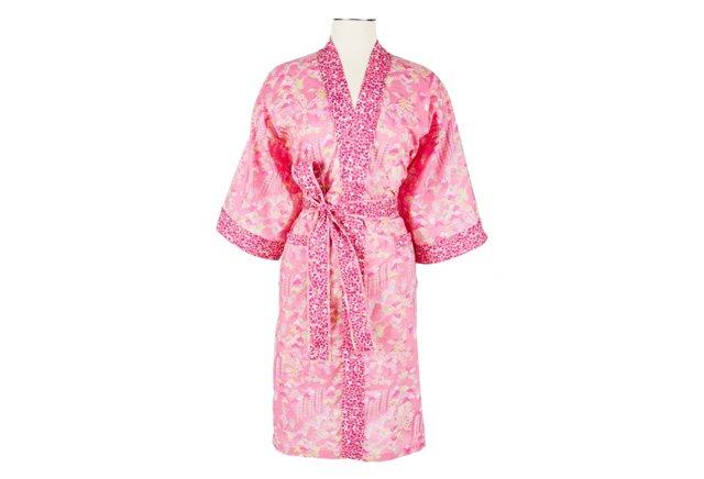 Cotton Wrap Kimono, Rosy Watergarden