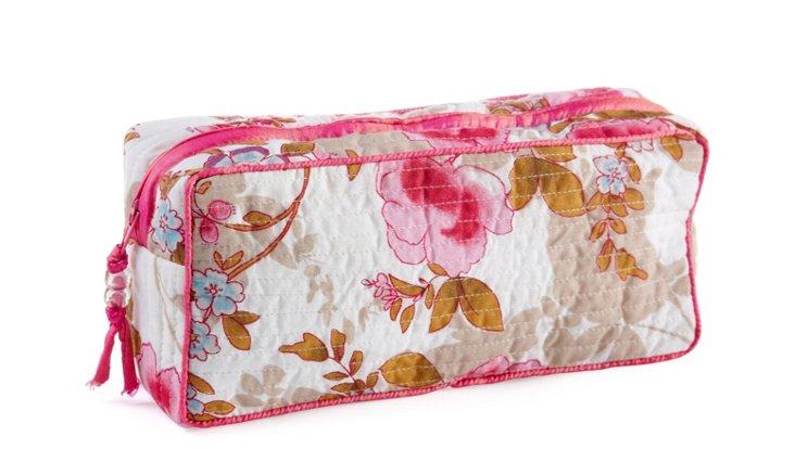 Clutch Make Up Bag, White Beautiful