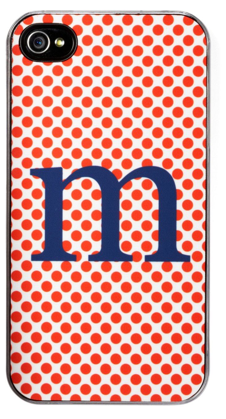 Custom Orange Dot iPhone 4S Case