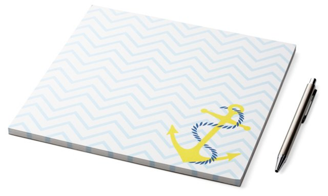 S/2 Square Chevron Anchor Notepads, Blue