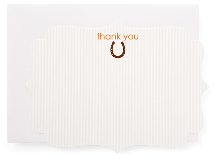 S/20 Die Cut Cards, Thank You Horseshoe