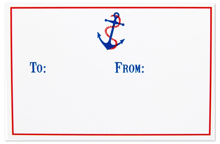 S/40 Gift Enclosure Cards, Blue Anchor