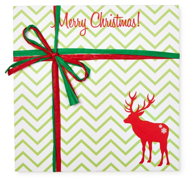 """S/2 """"Merry Christmas"""" Deer Notepads"""