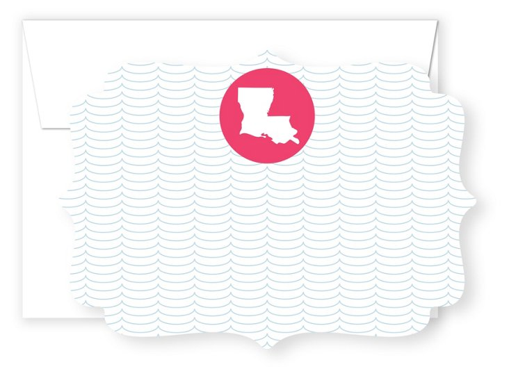S/20 Pick Your State Die Cut Cards, Wave