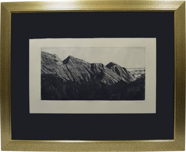 Etching by Bjorn Rye, San Marcos Pass