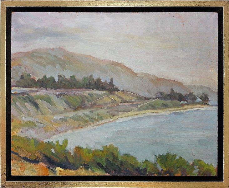 Oil Painting, Summerland Beach
