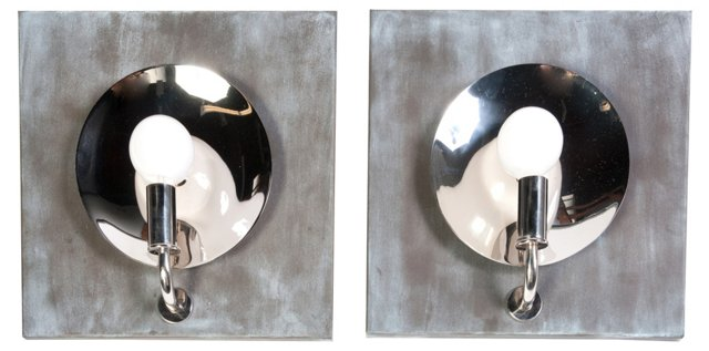 Exposed Bulb Wall Sconces, Pair
