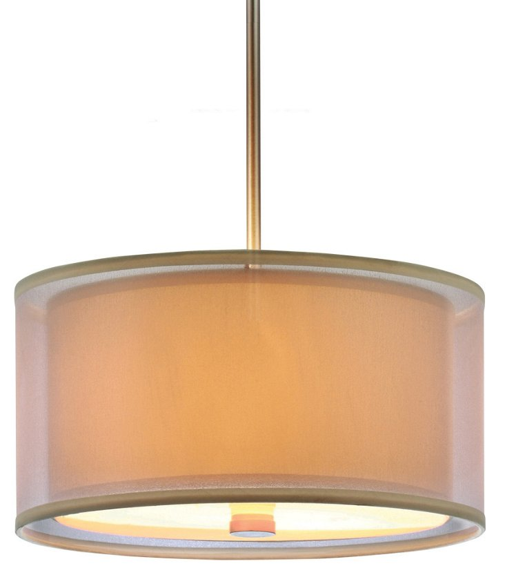 Jordyn 3-Light Pendant, Brushed Nickel