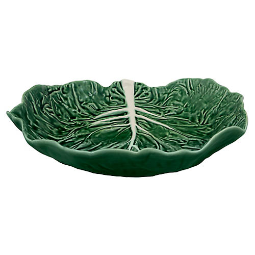 Cabbage Salad Serving Bowl, Green
