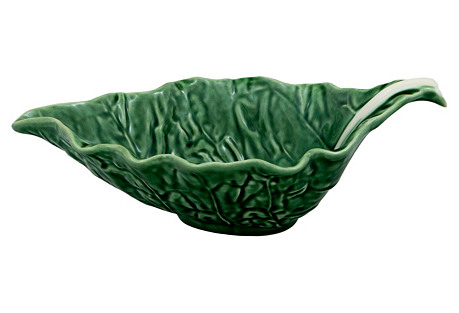Cabbage Sauceboat, Green