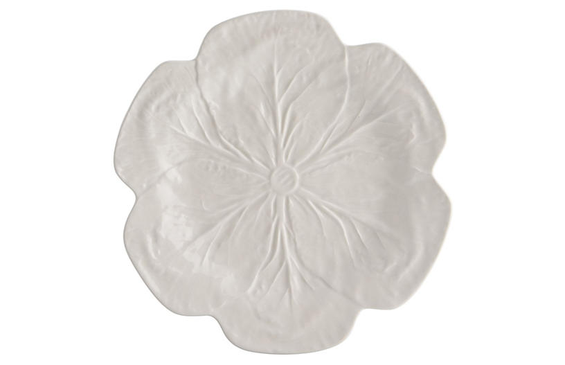 Cabbage Dinner Plate, Beige