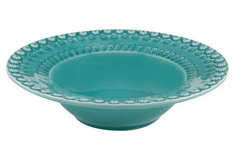 Fantasy Salad Bowl, Turquoise