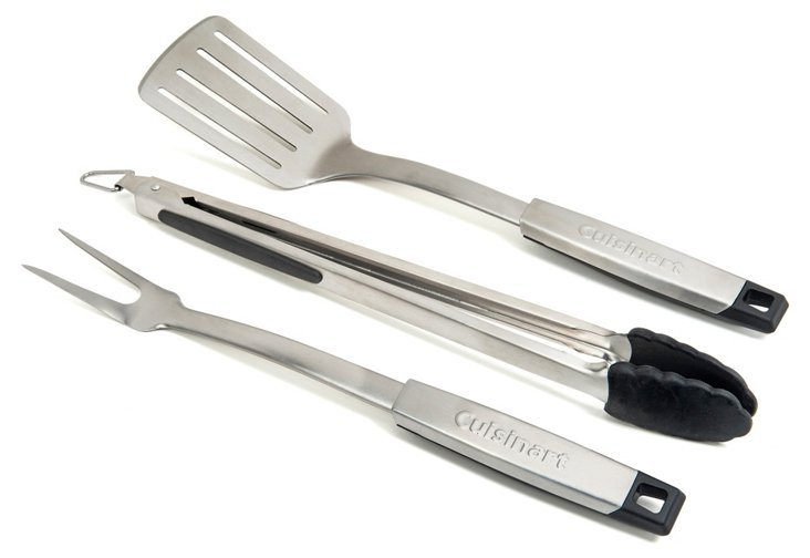 3-Pc Pro Grill Tool Set, Silver