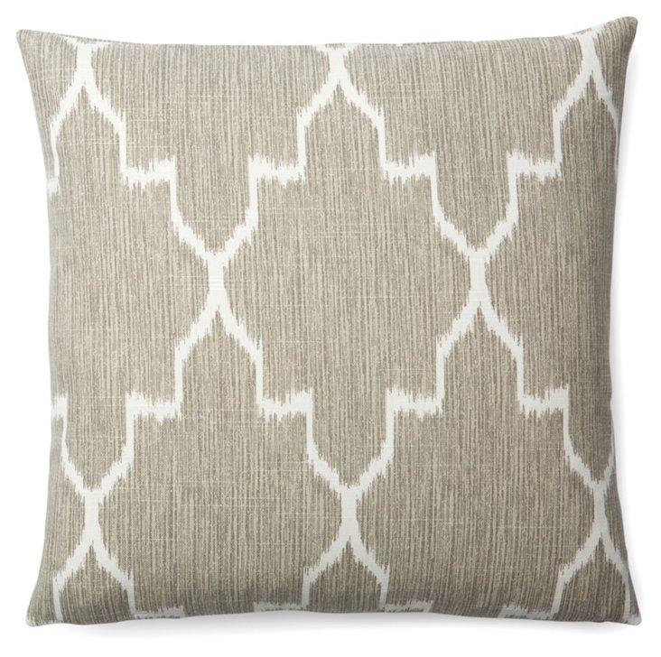 Monaco 18x18 Cotton Pillow, Gray