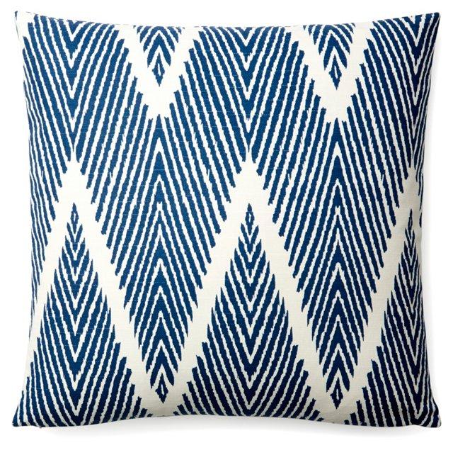 Bali 18x18 Cotton Pillow, Blue