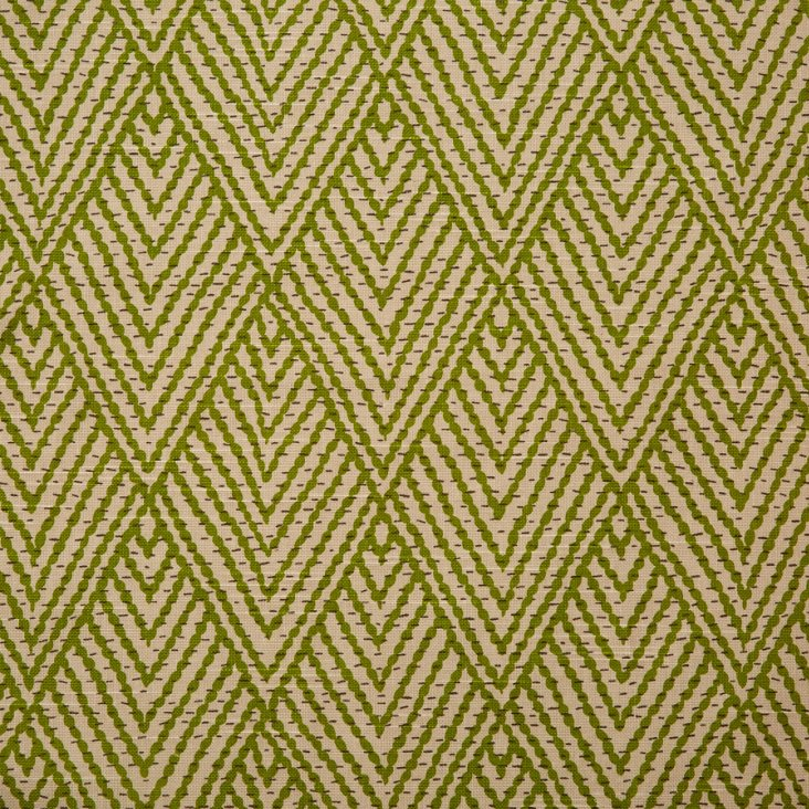 Tahitian Stitch Cotton Fabric, Basil