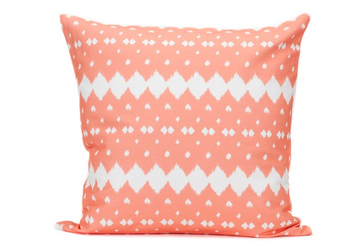 Lattice 20x20 Pillow, Coral