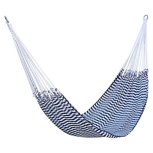 Traditional Hammock, Navy/White