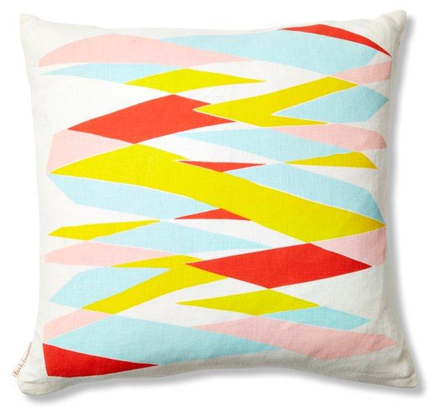 Highway 16x16 Linen Pillow, Multi