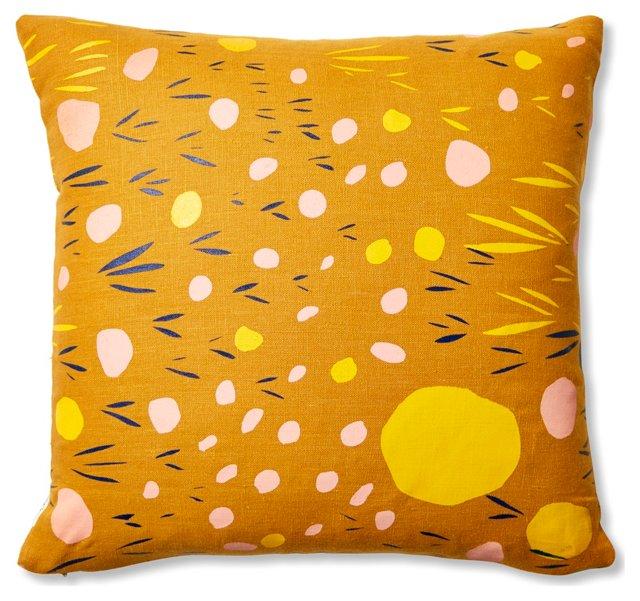 Pebbles 18x18 Linen Pillow, Orange
