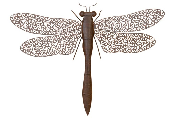 Dragonfly Wall Decor, Brown