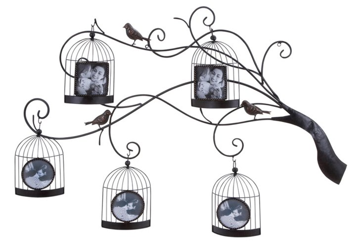 Birdcage Tree 5-Photo Frame