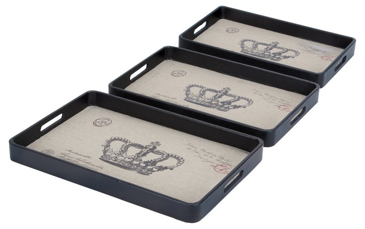Royal Crown Trays, Asst. of 3