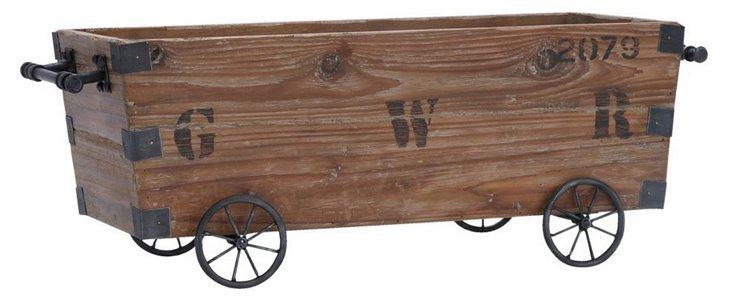 "24"" Wooden Crate Cart"
