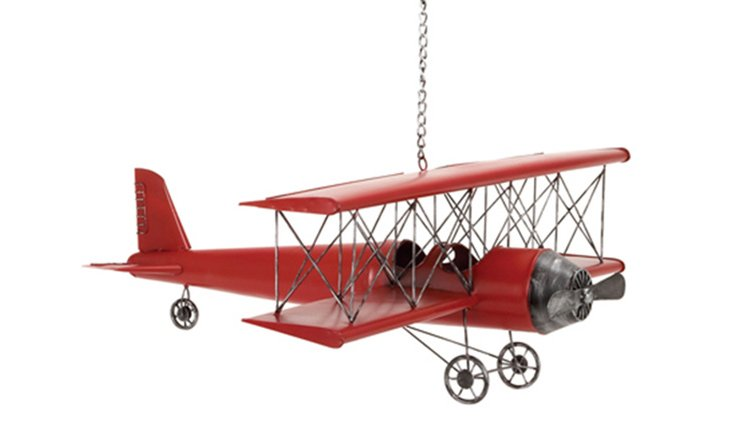 Large Plane Figurine, Red