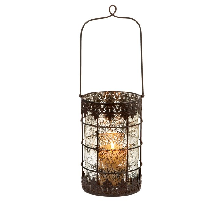 Metal & Glass Lantern w/ Handle