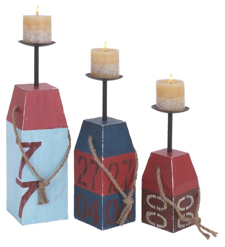 Asst. of 3 Buoy Candleholders
