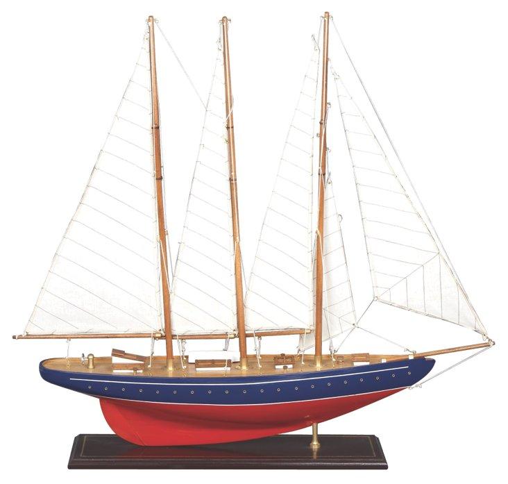 Red Sailboat Figurine