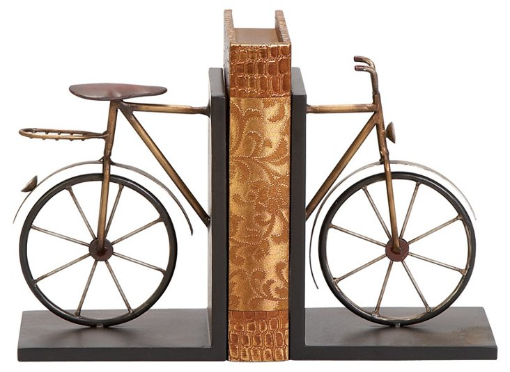 Pair of Bicycle Bookends
