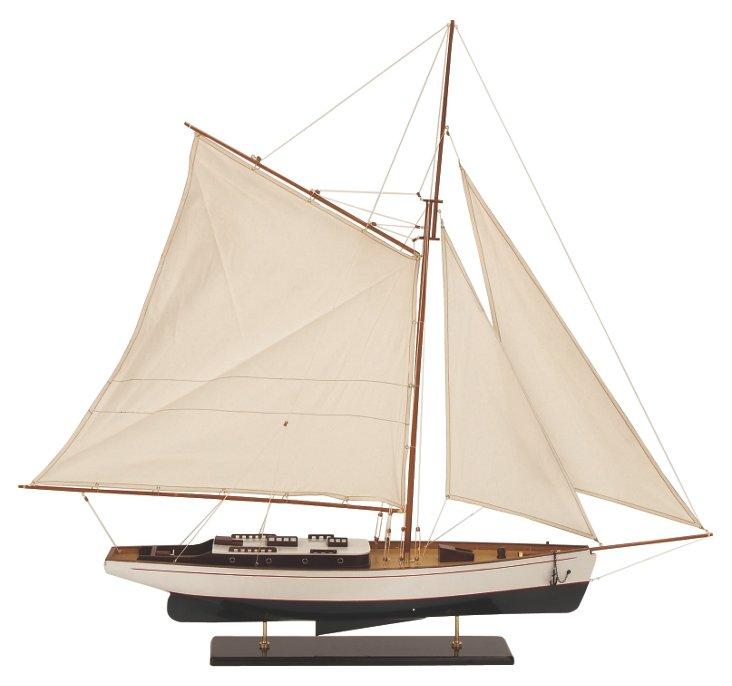 """51"""" Wooden Schooner Ship"""