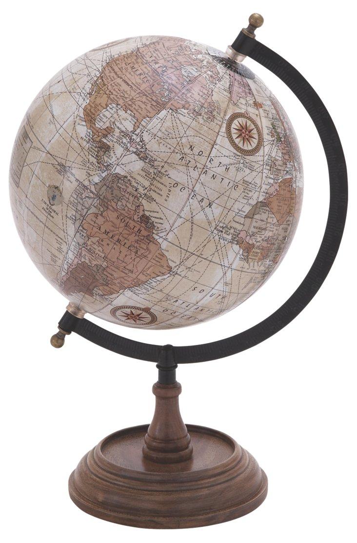 "14"" Metal Globe"