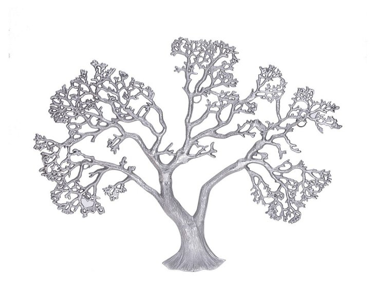 Tree Wall Plaque, Silver