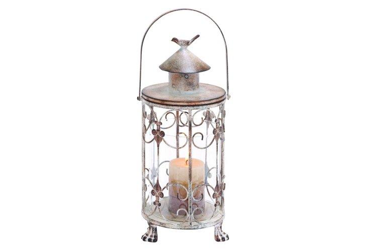 """7"""" Lantern w/ Bird Accent"""