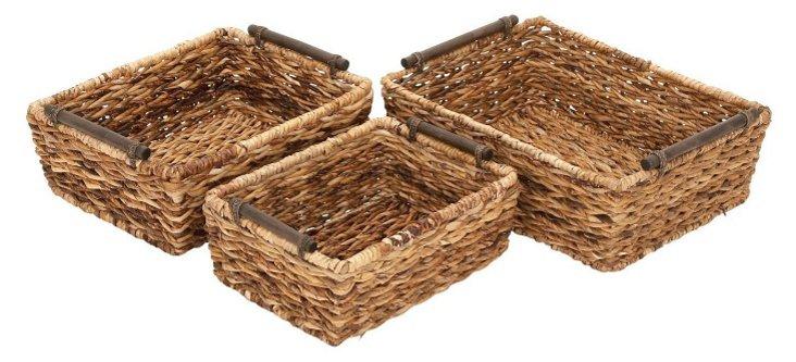 S/3 Banana-Leaf Baskets
