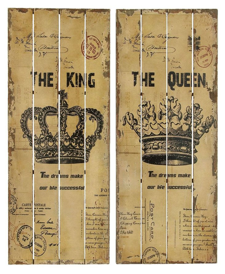 King & Queen Wall Decor