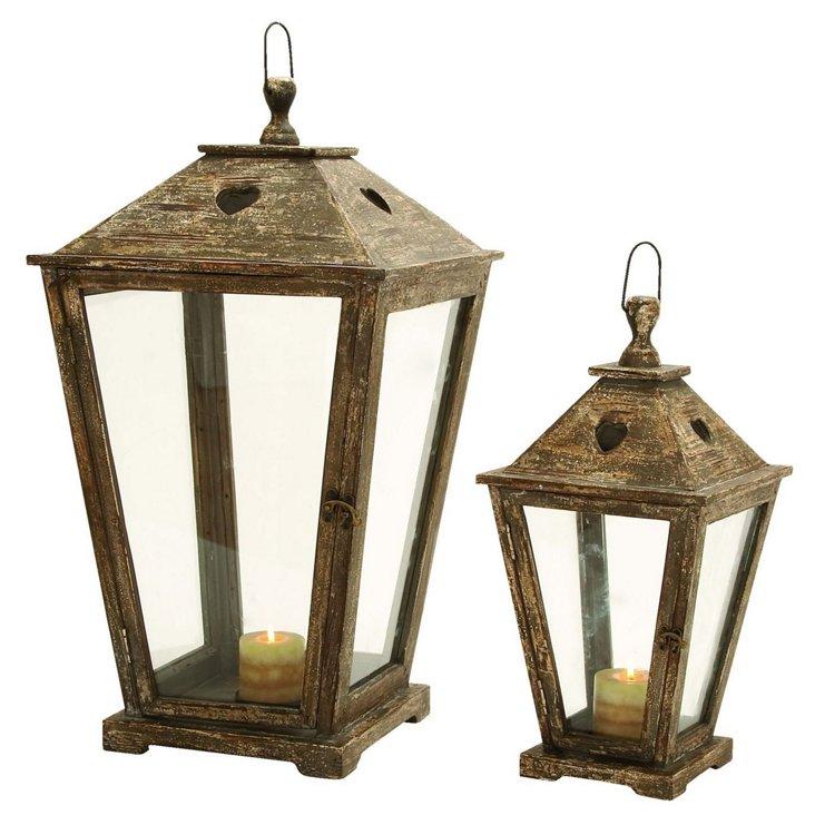 Asst. of 2 Streetlight Lanterns, Brown