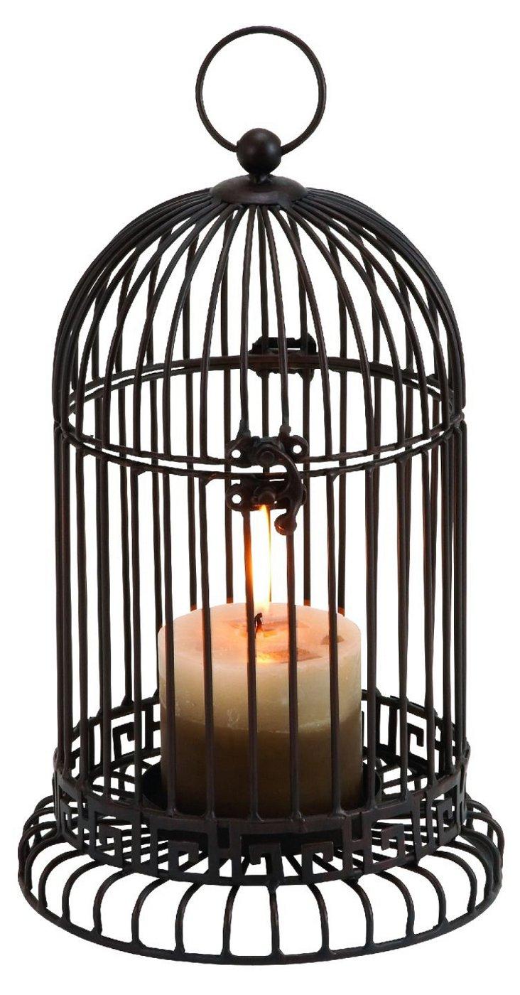 "12"" Caged Candleholder"