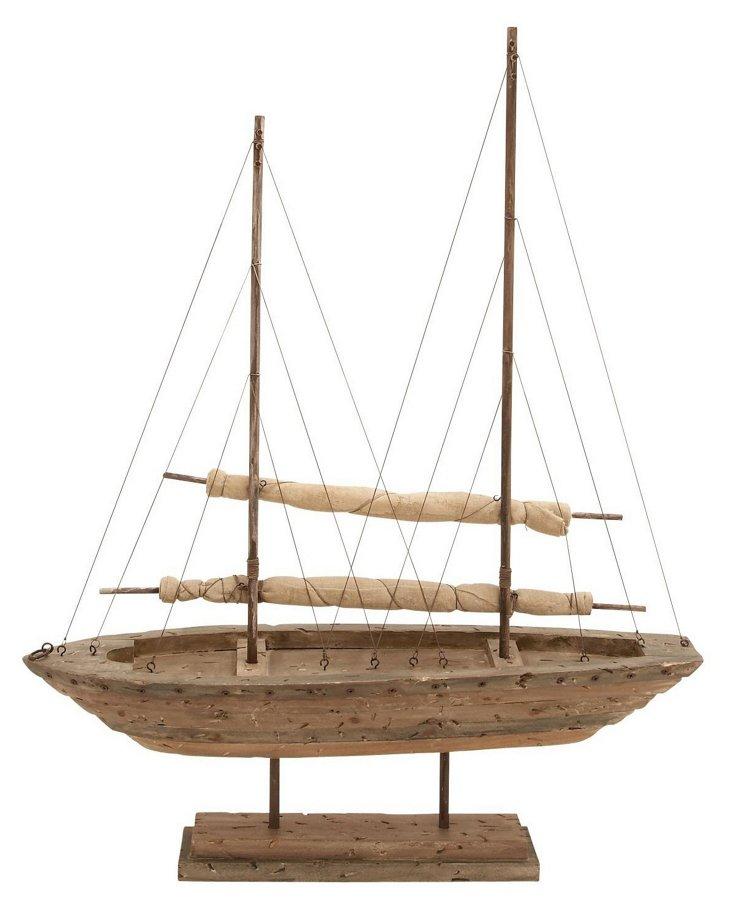 Wooden Sailboat, Large