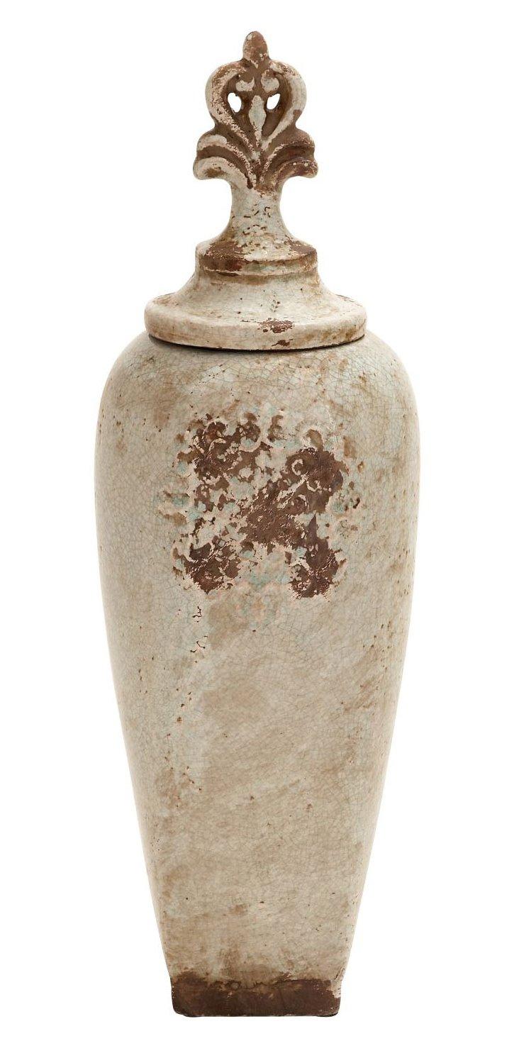 "20"" Ceramic Jar"
