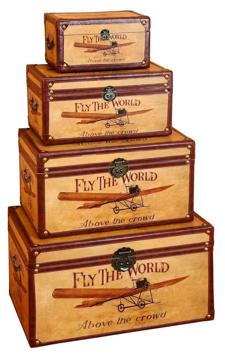 Asst. of 4 Fly the World Boxes