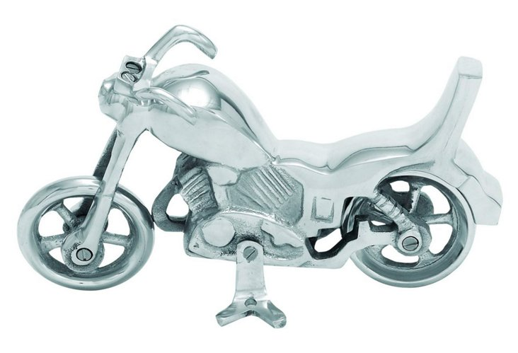 Aluminum Motor Bike Figurine
